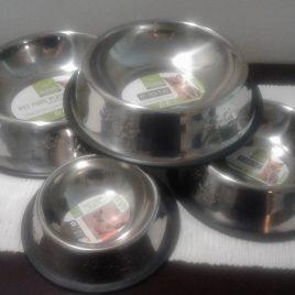 Metal Silver Feed Bowls
