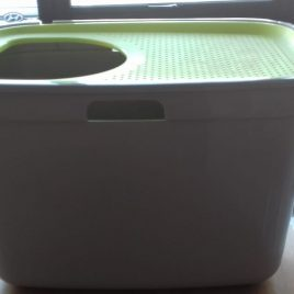 Moderna Top Cat Litter Box Lemon